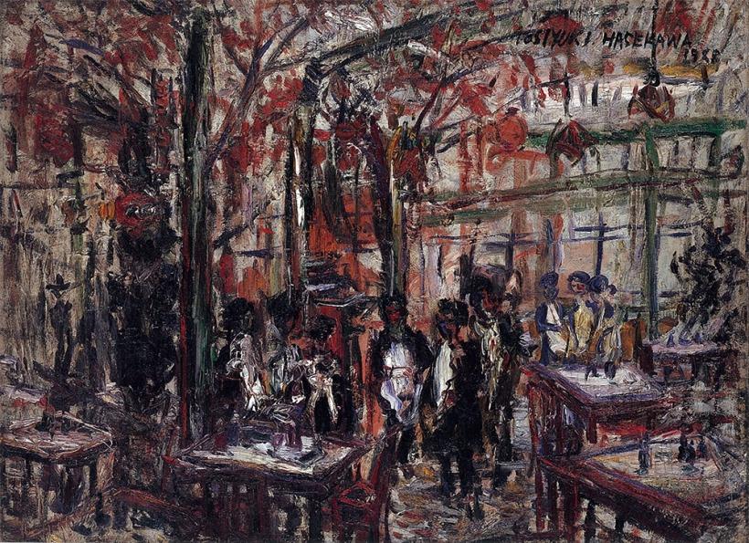カフェ・パウリスタ-1928年-油彩、キャンバス-53.0×72.8cm-独立行政法人国立美術館-東京国立近代美術館蔵『美術にぶるっ!ベストセレクション-日本近代美術の100年』展図録より