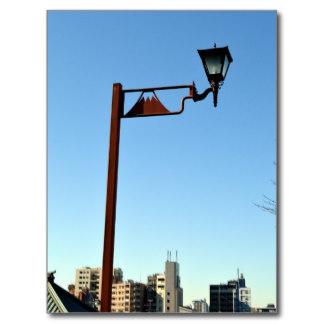 fujimizaka streetlight postcard ($1.20)、黒いビルが写る Zazzle.comより