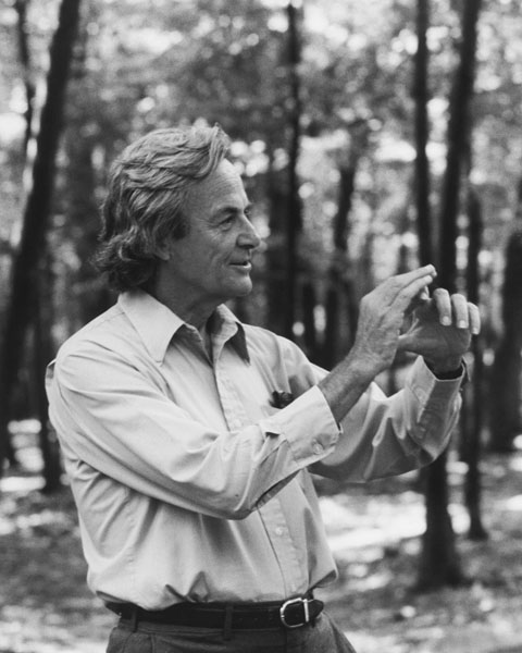 Richard Feynman at the Robert Treat Paine Estate in Waltham, MA, in 1984, copyright Tamiko Thiel bw, wikipediaによる