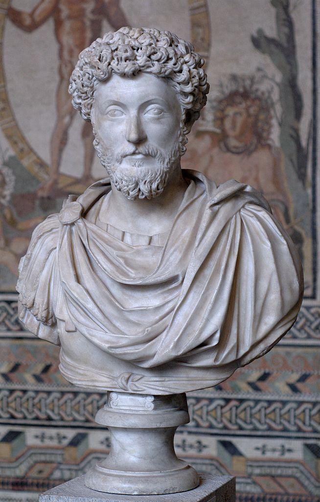 マルクス・アウレリウス・アントニヌス胸像 Glyptothek(München)蔵 wikipediaによる