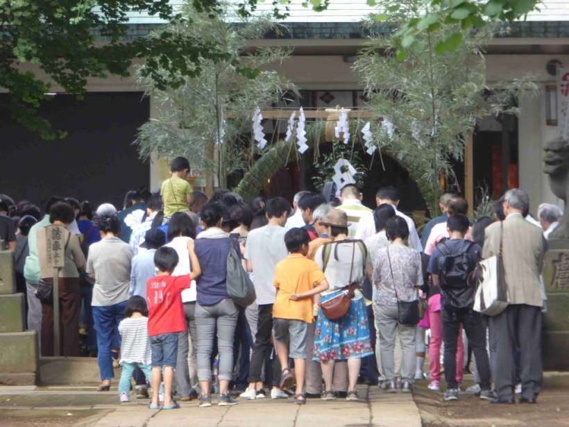 天祖神社の茅の輪くぐり