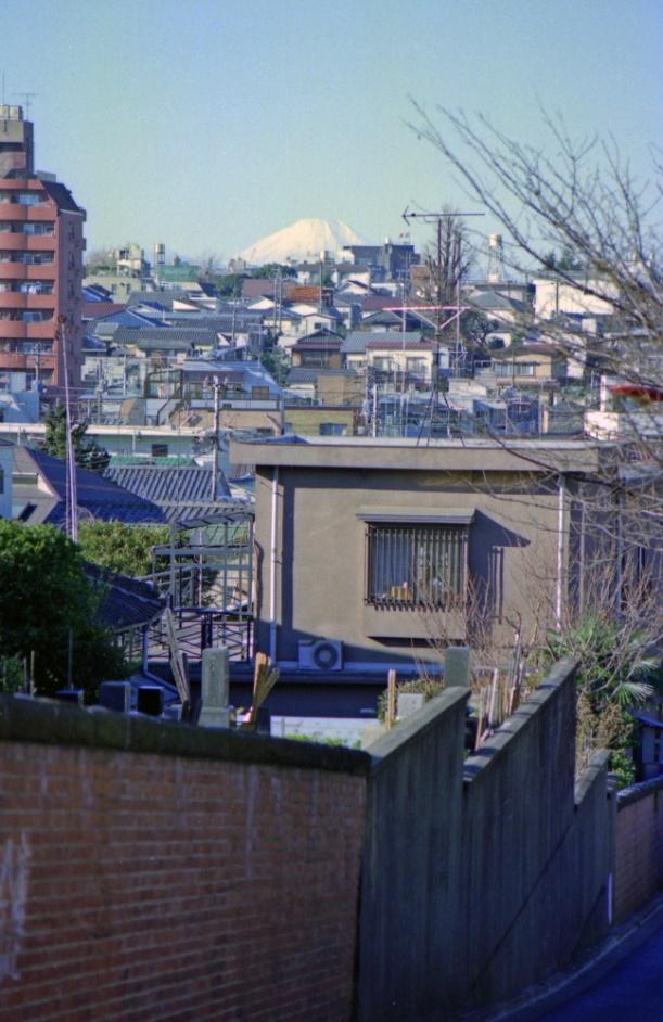 1980年代日暮里富士見坂(撮影・石川正)