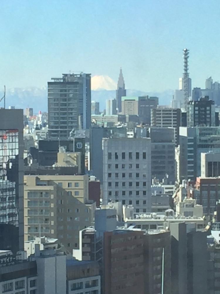 順天堂13階からの富士