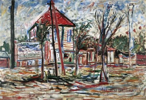 夏の遊園地(1928年)油彩、カンヴァス 112.0×163.0cm 個人蔵