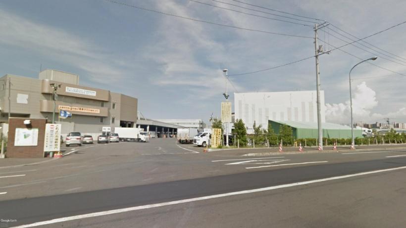 札幌中央卸売市場-Google-Earthによる