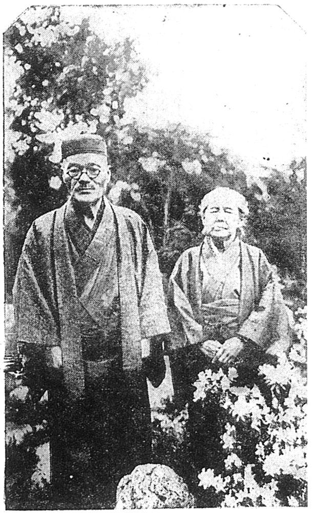 金婚式を迎える鐸木三郎兵衛・多賀子『福島民報』より