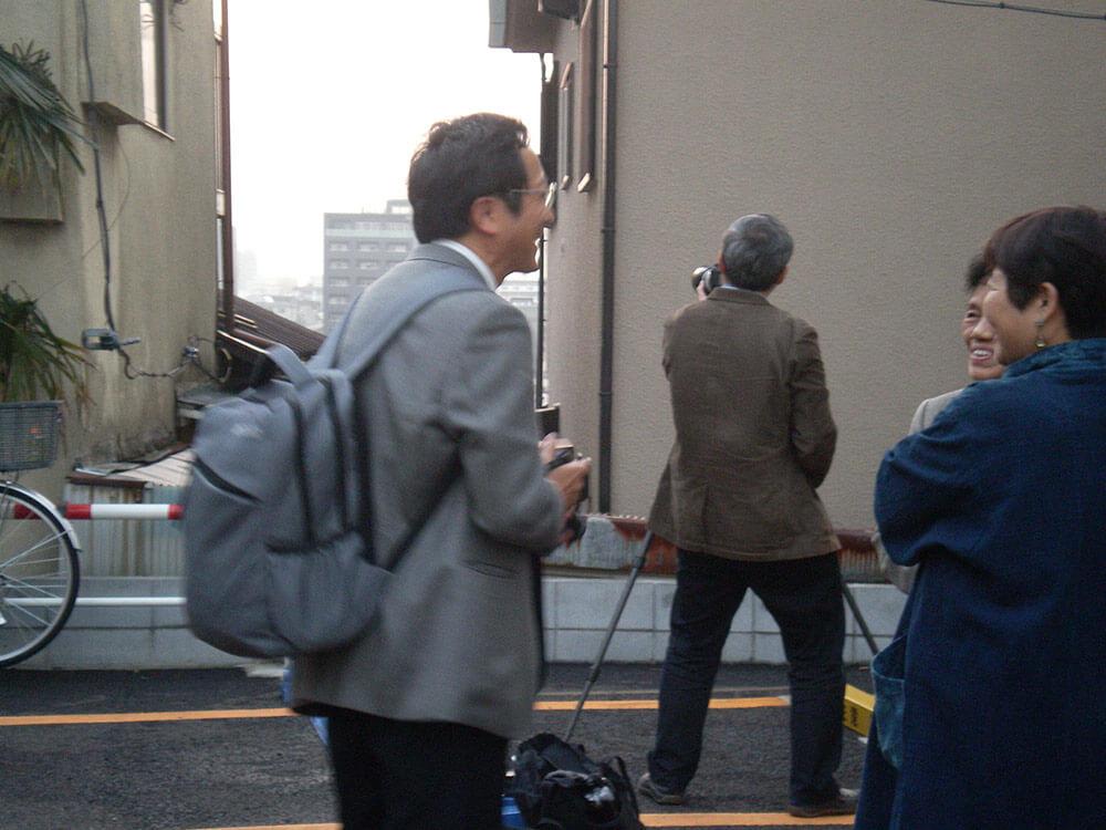 2014年11月12日富士見坂隣地で田代先生と